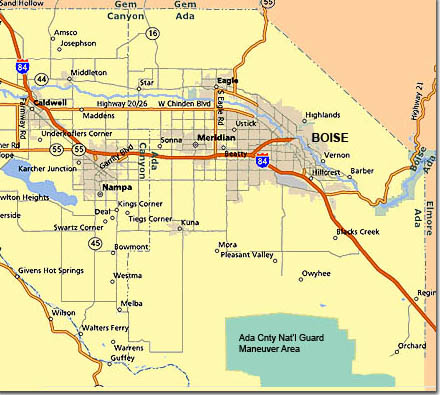 Streets Of Boise Idaho Map Pictures To Pin On Pinterest