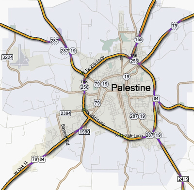 Map Of Palestine Tx 75801.Palestine Texas Travel Pal International